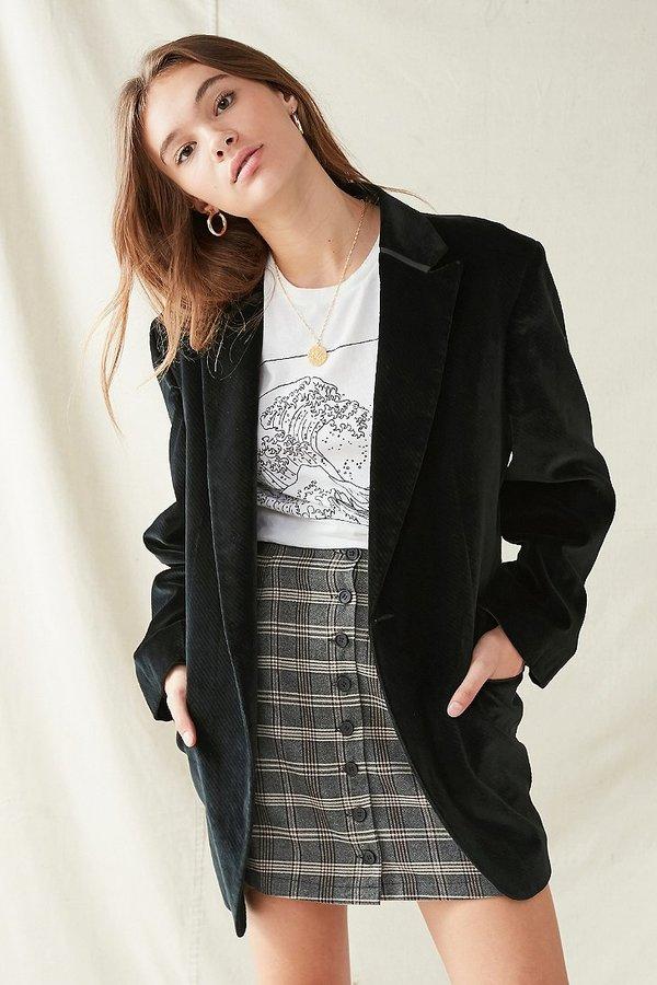 Urban Renewal Vintage Oversized Velvet Blazer