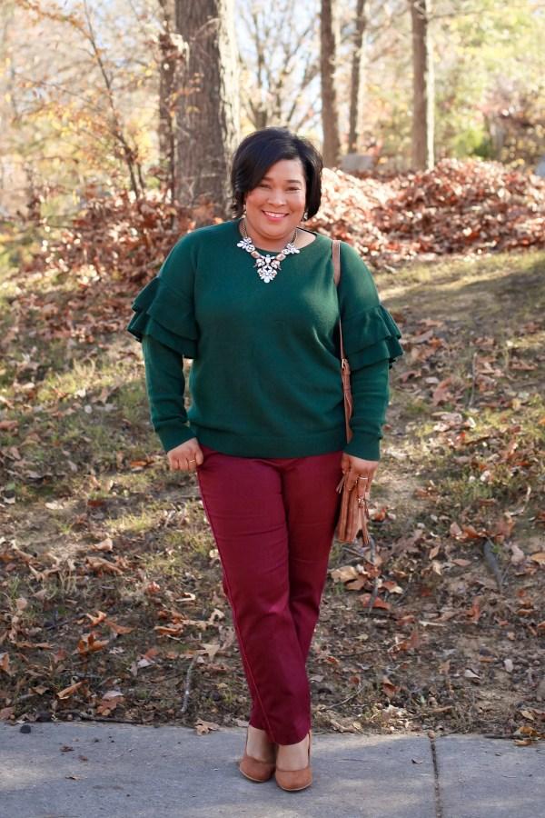 Ruffled-Sweater-Pink-Pants