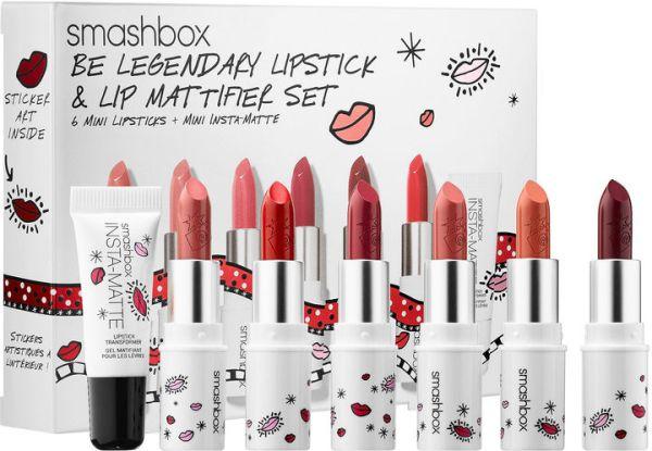 SMASHBOX Smashbox Drawn In. Decked Out. Be Legendary Lipstick & Lip Mattifier Set