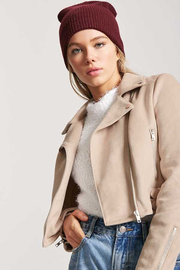 FOREVER 21 Faux Suede Moto Jacket2