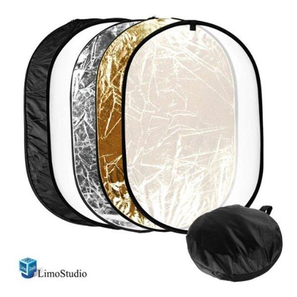 LimoStudio 24x36 Photo Video Studio Multi Collapsible Disc Lighting Reflector 5-in-1