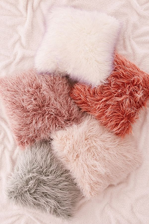 Marisa Tipped Faux Fur Pillow