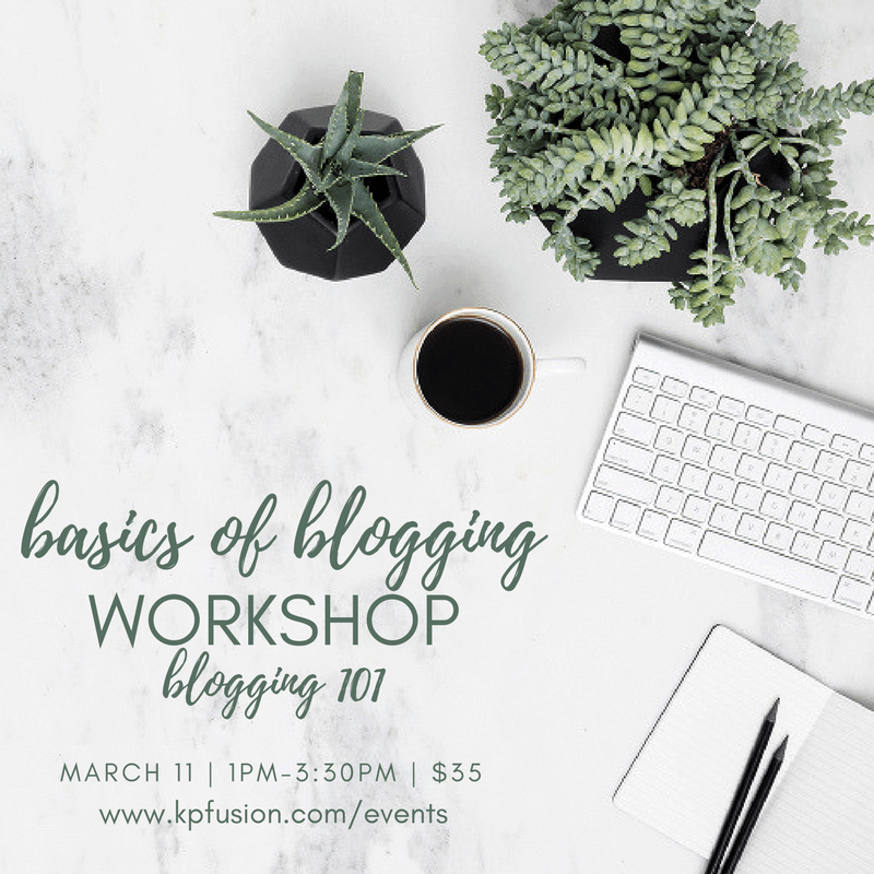 Basics of Blogging Workshop 3.11.18