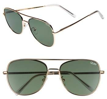Quay Australia 'Running Riot' 58mm Aviator Sunglasses