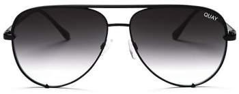Quay x Desi High Key Aviator Sunglasses, 56mm