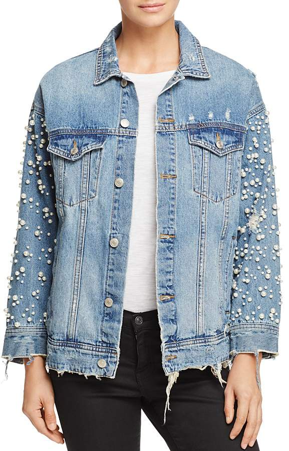 Sunset & Spring Embellished Denim Jacket