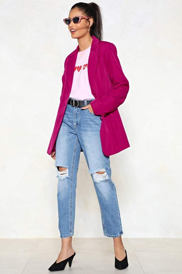 nastygal Bust This Case Mom Jeans