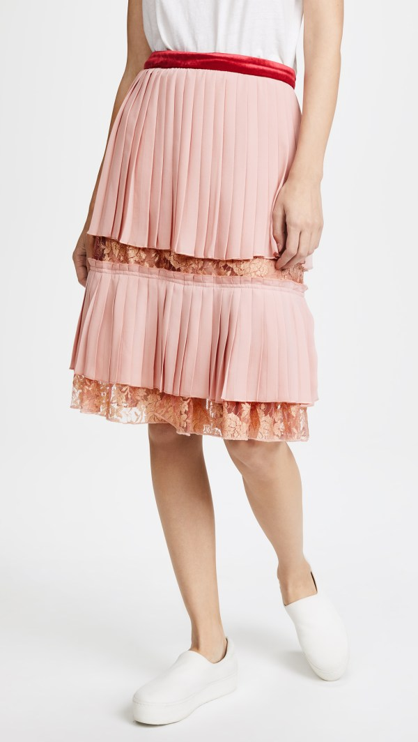 Endless Rose Pleated Lace Skirt