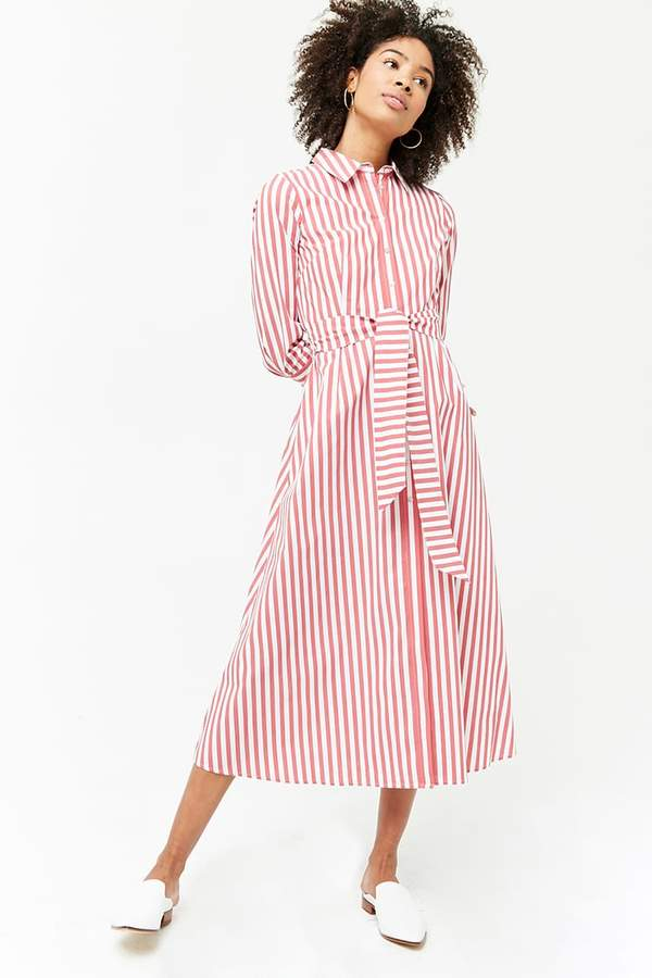 Forever 21 Striped Maxi Shirt Dress