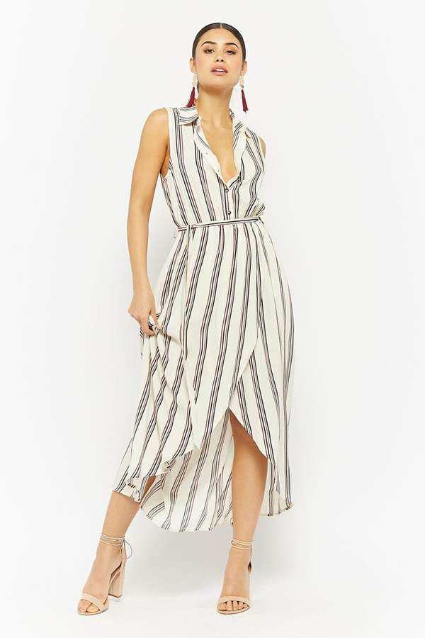 Forever 21 Striped Tulip-Hem Shirt Dress