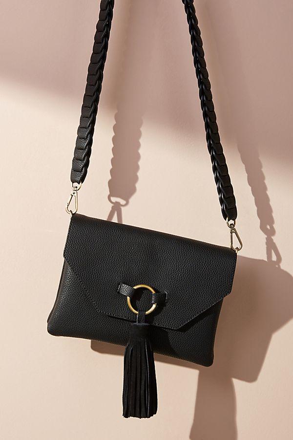 Anthropologie Meredith Tassel Crossbody Bag