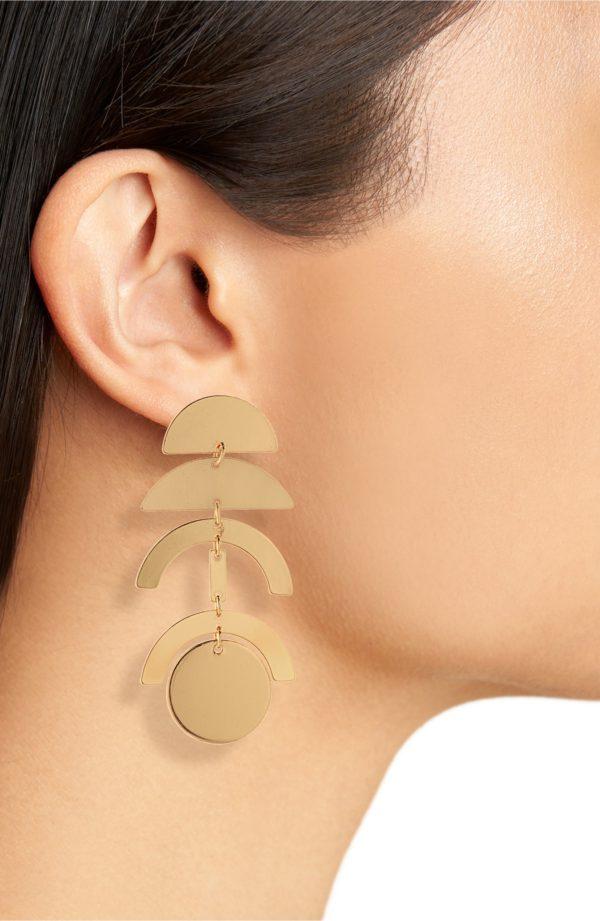 Panacea Linear Geo Earrings