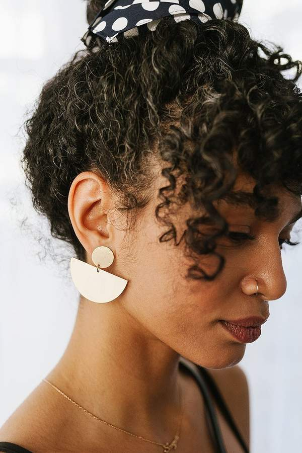 Urban Outfitters Half Moon Drop Statement Earring
