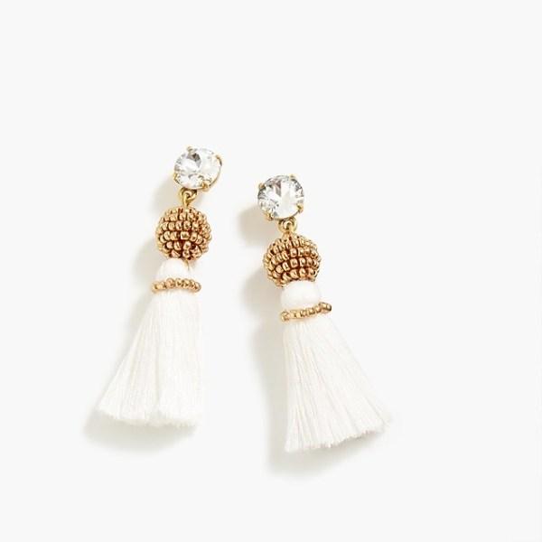 Bead and Tassel Earrings
