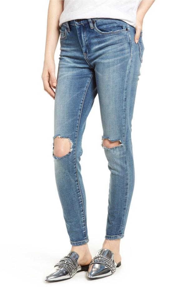 BlankNYC Ripped Skinny Jeans