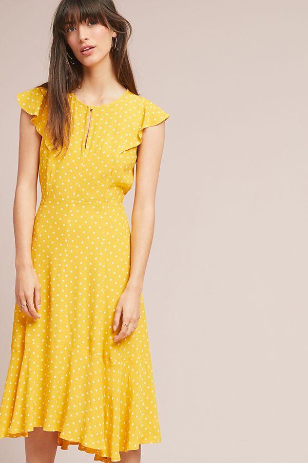 Maeve Caroline Flutter-Sleeve Dress