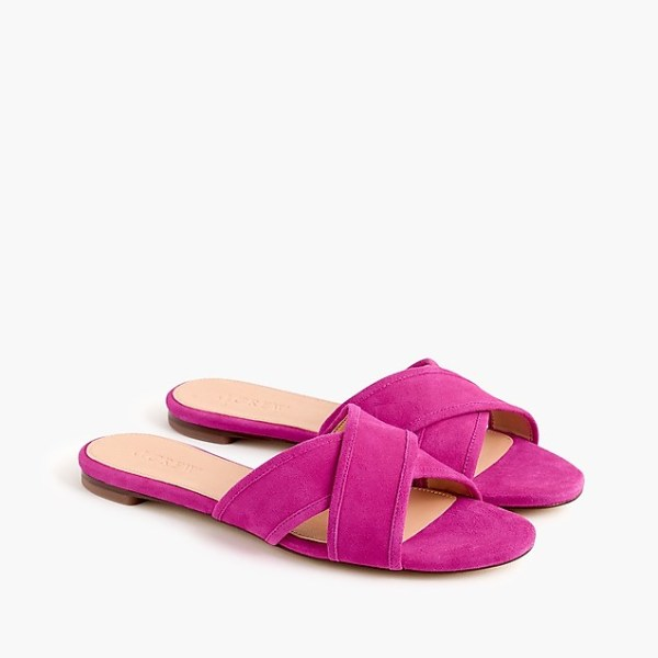 Suede Cora Crisscross Sandals