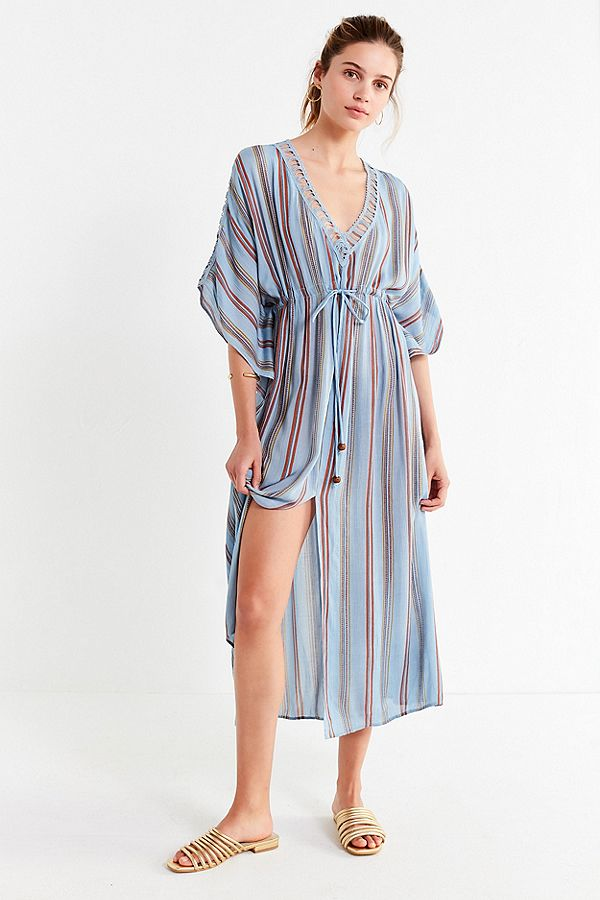 UO Hermosa Ladder Lace Midi Dress
