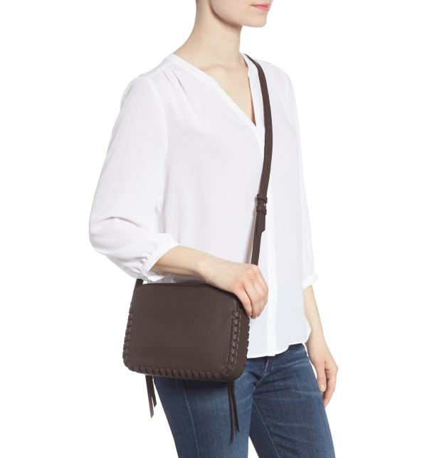 Allsaints Kepi Mini Leather Crossbody Bag