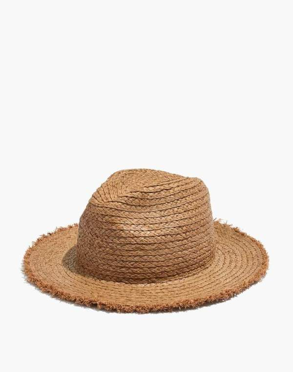 Madewell Raw-Edged Straw Fedora