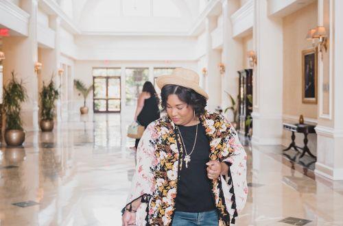 Floral Kimono Denim Travel Style