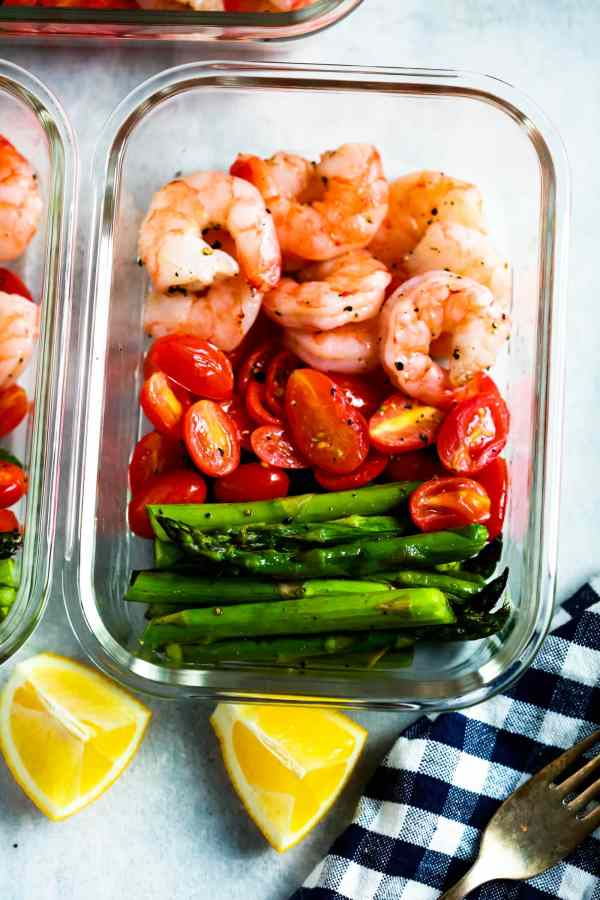 One Sheet Pan Shrimp with Cherry Tomatoes and Asparagus Meal Prep Primavera Kitchen