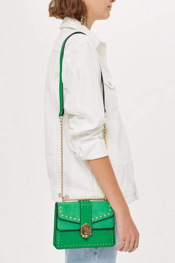 Studded Buckle Cross Body Bag