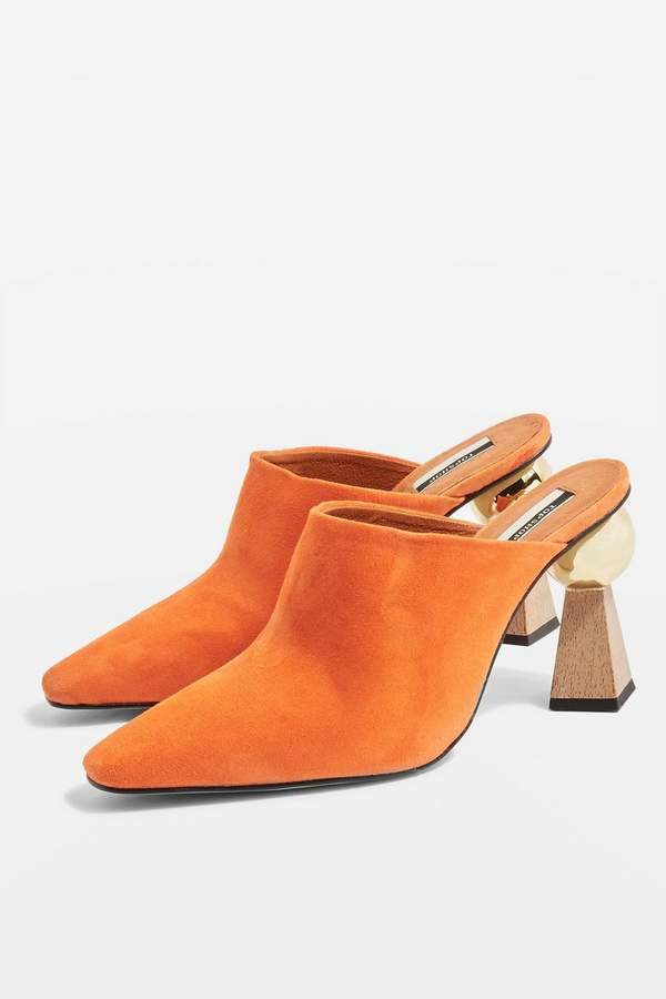 Topshop Sculptured Heel Mules