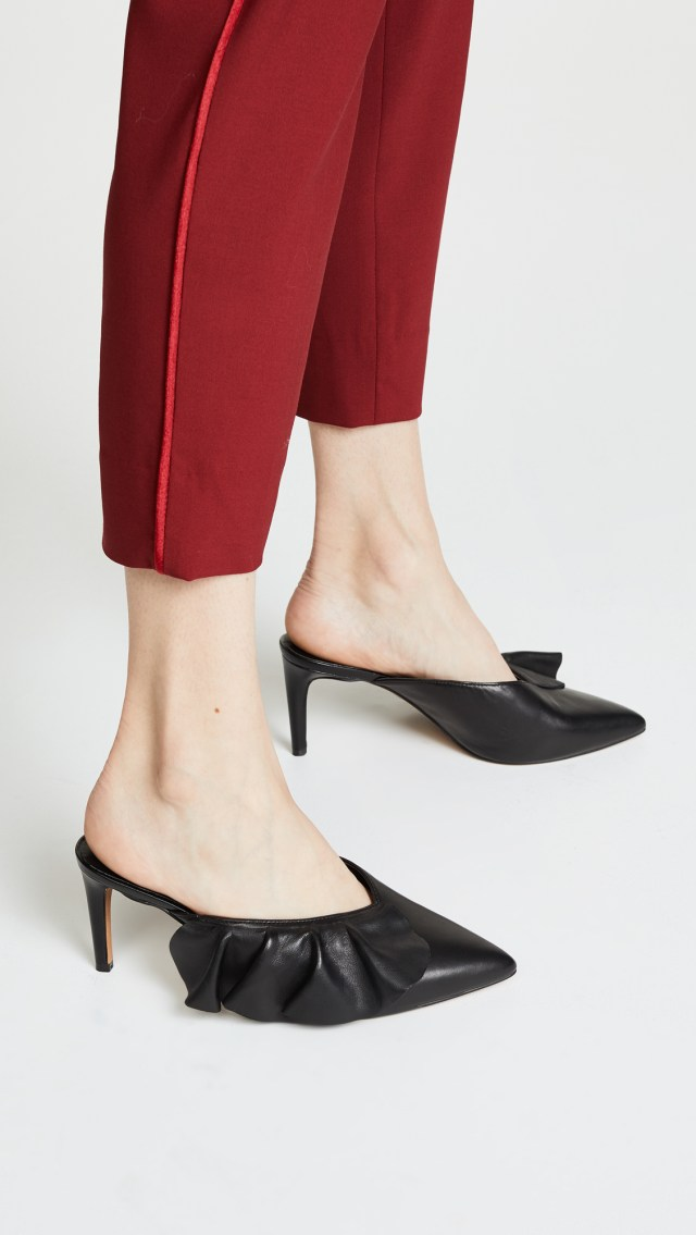 Rebecca Minkoff Giov Point Toe Ruffle Mules