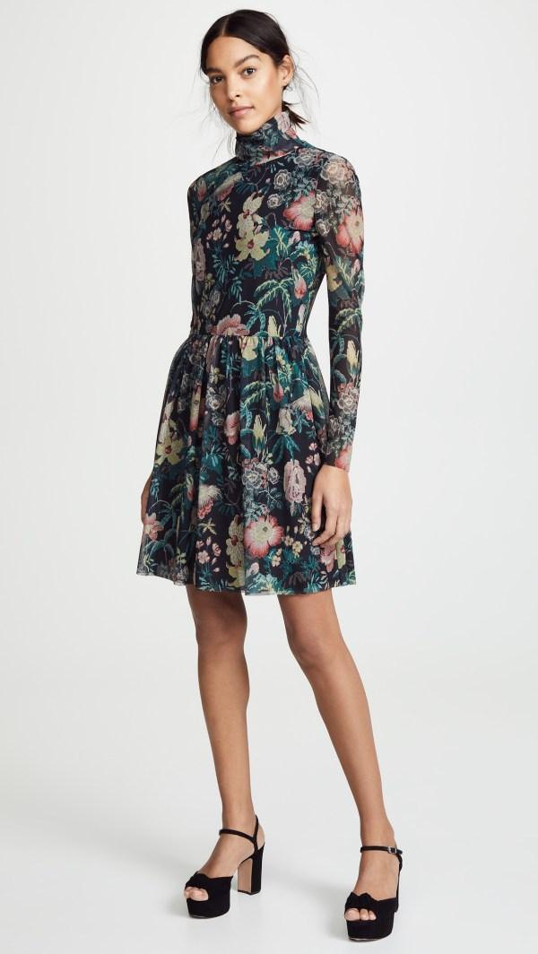 La Vie Rebecca Taylor Long Sleeve Faded Garden Dress