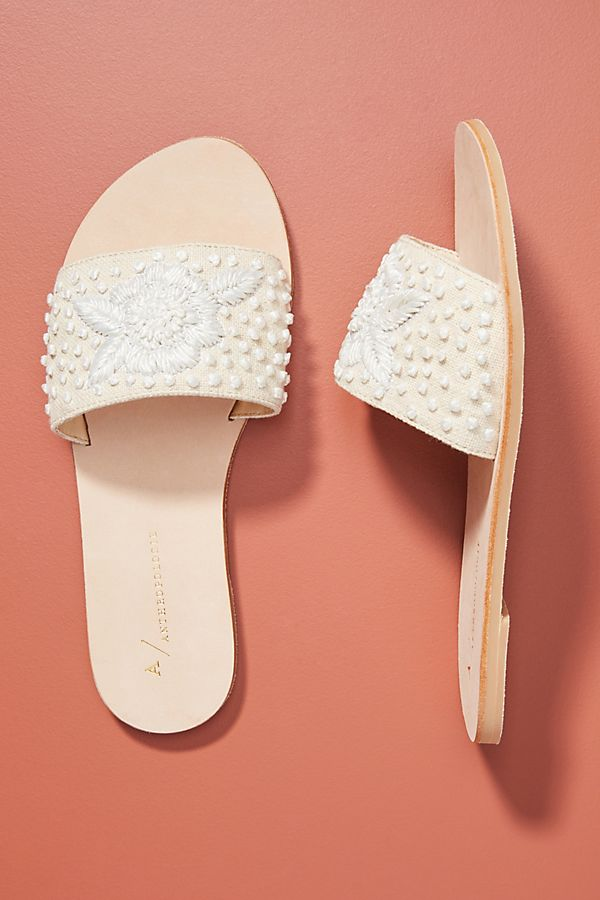 Anthropologie Stephanie Slide Sandals