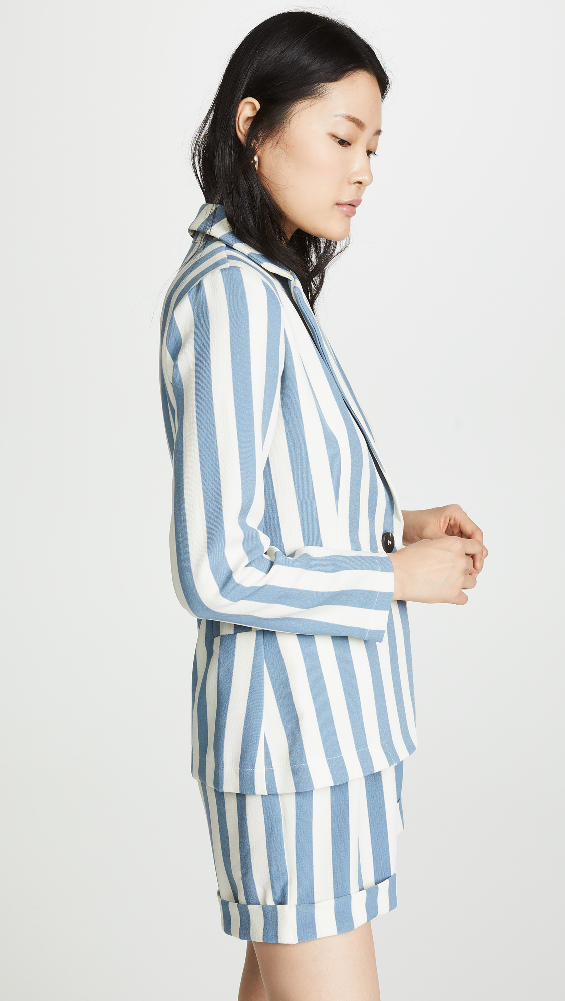 Chriselle Lim Collection Blue Stripe Blazer