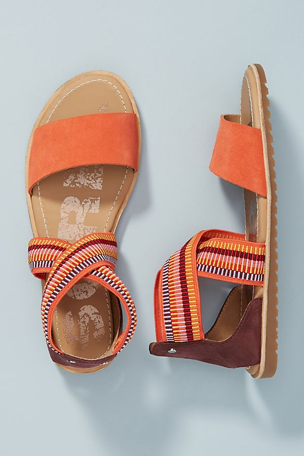 Sorel Orange Strappy Sport Sandals