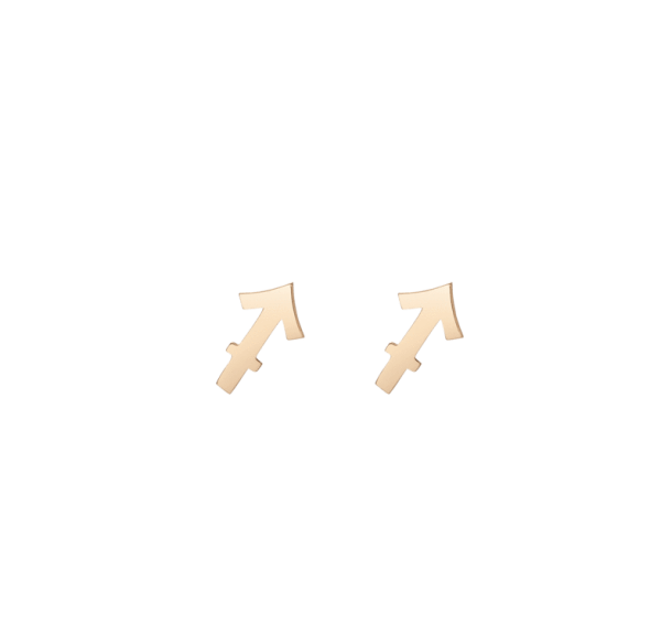 Zodiac Stud Earrings Gold Vermeil