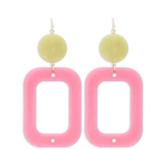 Forever 21 Marble & Opaque Geo Drop Earrings