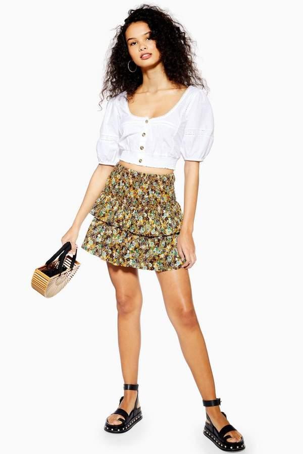 Topshop Ditsy Floral Mini Skirt