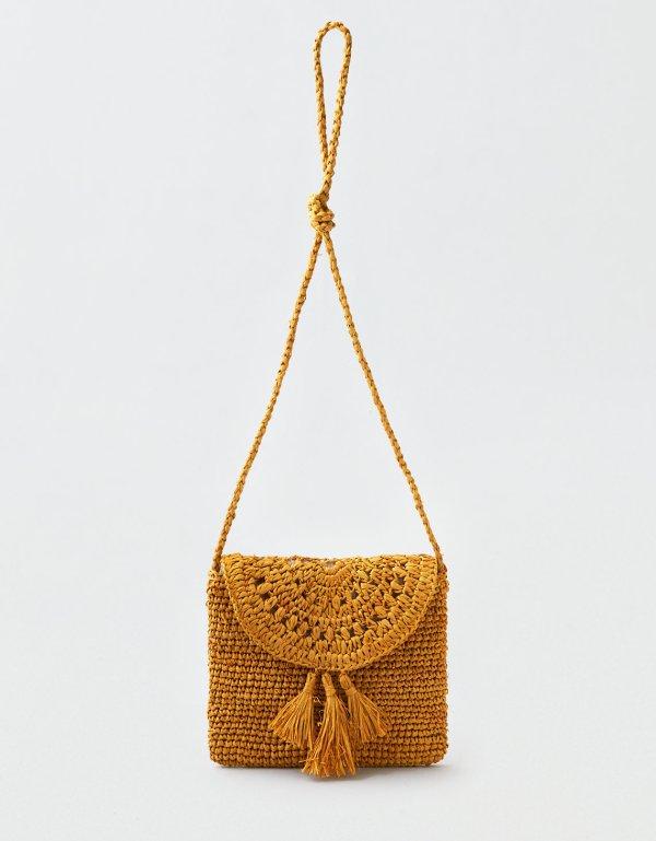 AEO Paper Straw Crossbody Bag