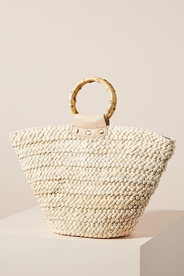 Anthropologie Alexa Ring Handle Tote Bag