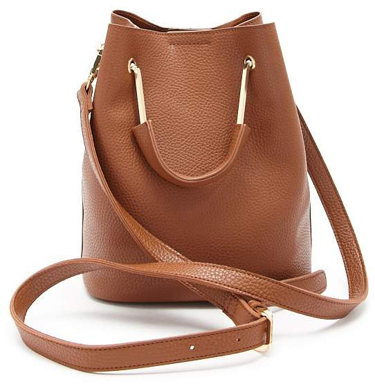 Forever 21 Faux Leather Bucket Handbag