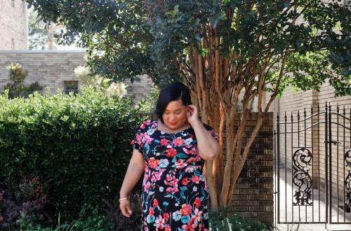 Floral Cold Shoulder Fit and Flare Dress