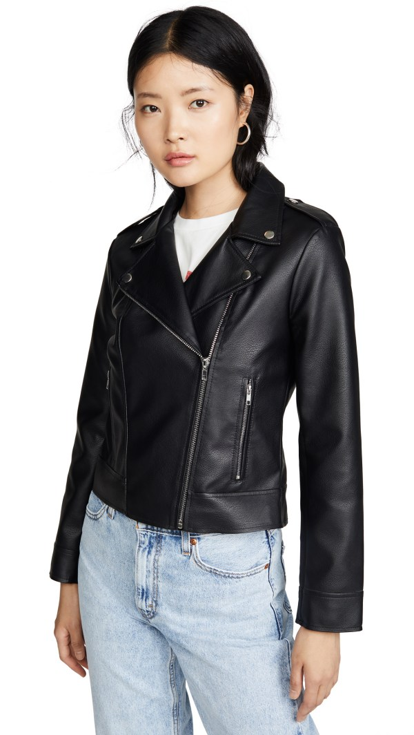 BB Dakota Moto Vegan Leather Finish Jacket