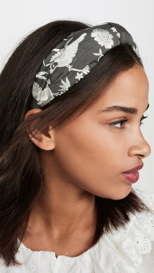 Hemant and Nandita White Floral Headband