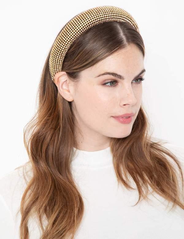 crystal rhinestone mesh headband