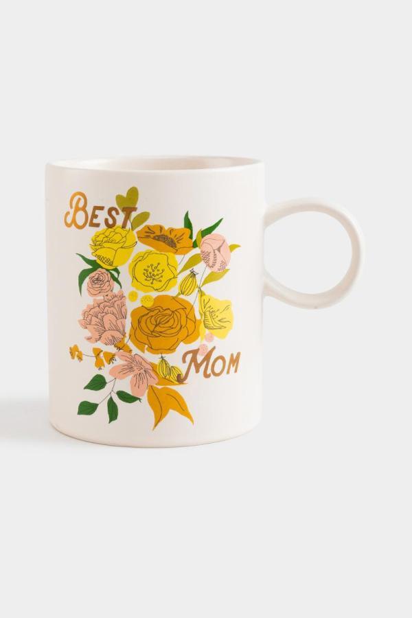 Best Mom Floral Mug