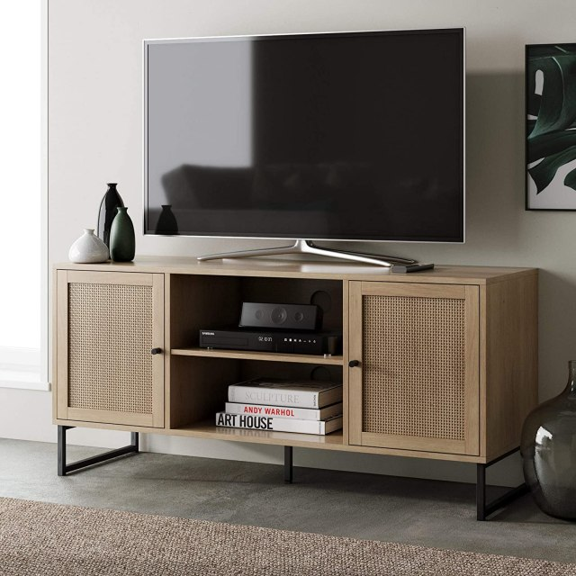 Nathan James Mina Modern TV Stand Entertainment Cabinet