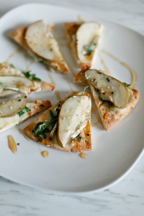 Honey Pear and Brie Flatbread
