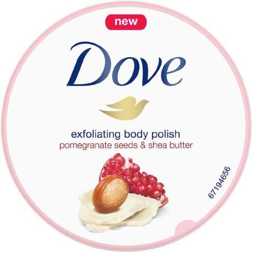 Dove Beauty Pomegranate Seeds & Shea Butter Exfoliating Body Polish Scrub