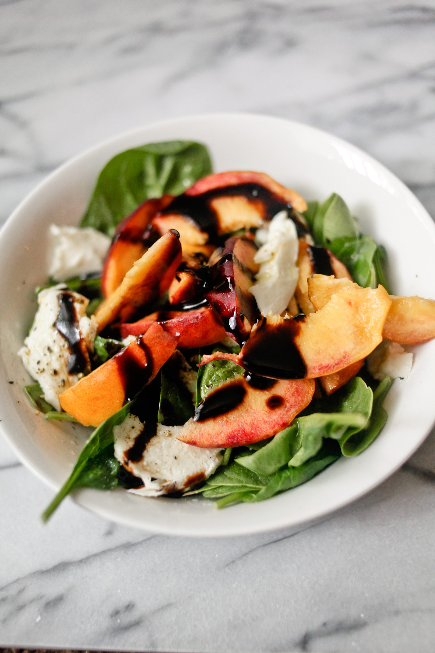 Peach Salad with Balsamic Glaze Recipe