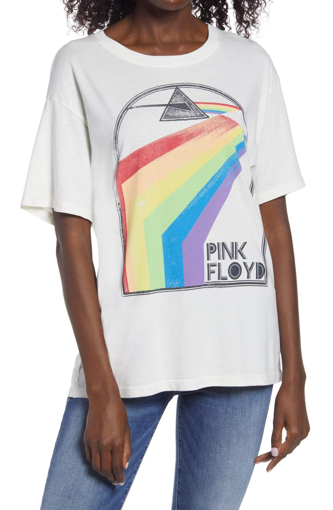 Daydreamer Pink Floyd Retro Rainbow Boyfriend Graphic Tee