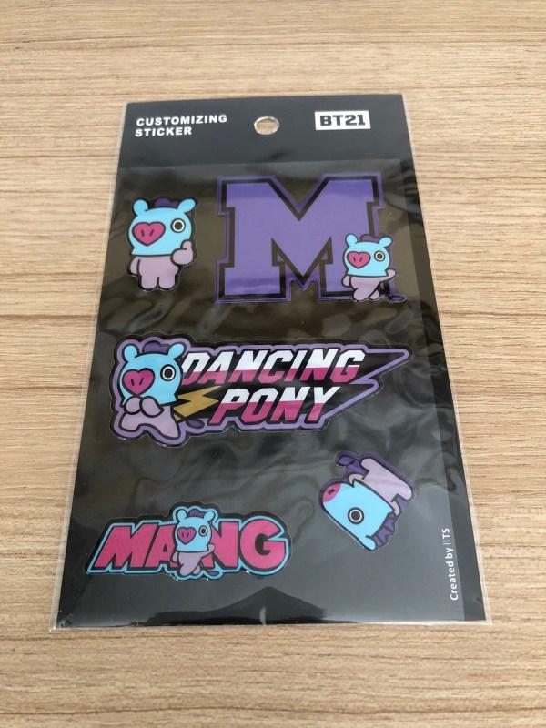 BT21 BTS Mang Luggage Bag Sticker